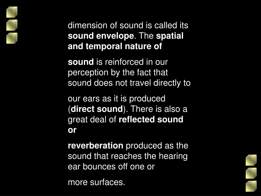 dimension of sound is called its
