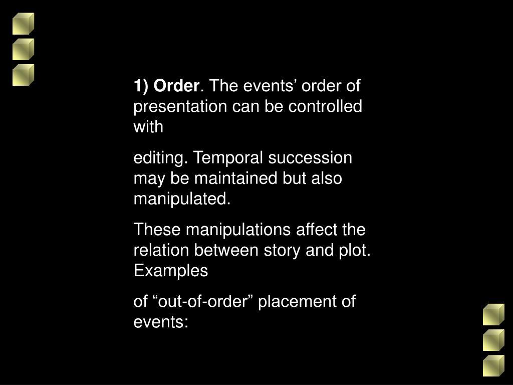 1) Order