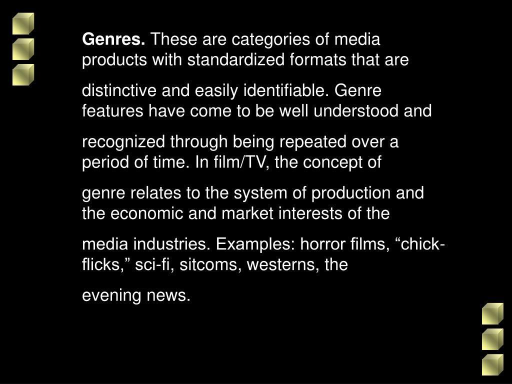 Genres.