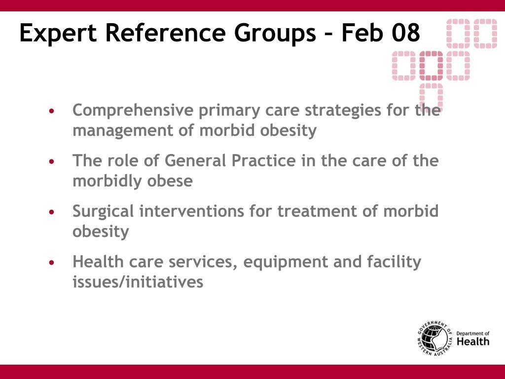 Expert Reference Groups – Feb 08