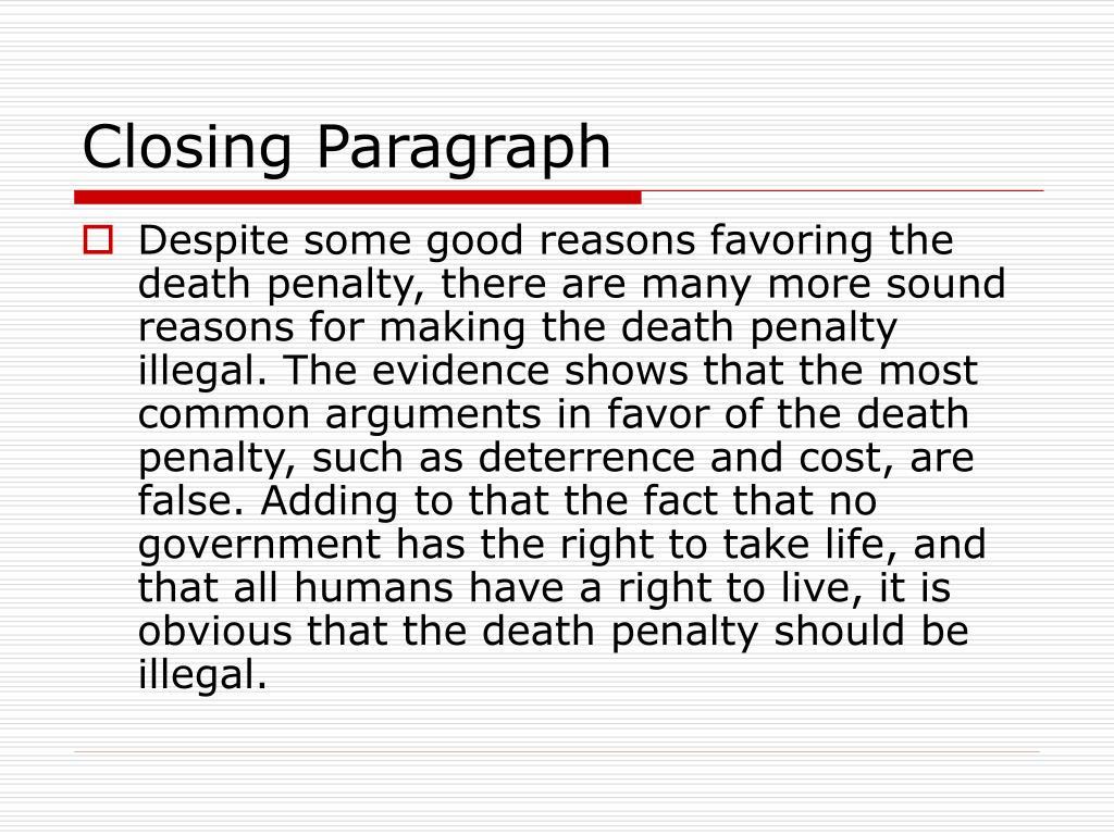 Closing Paragraph
