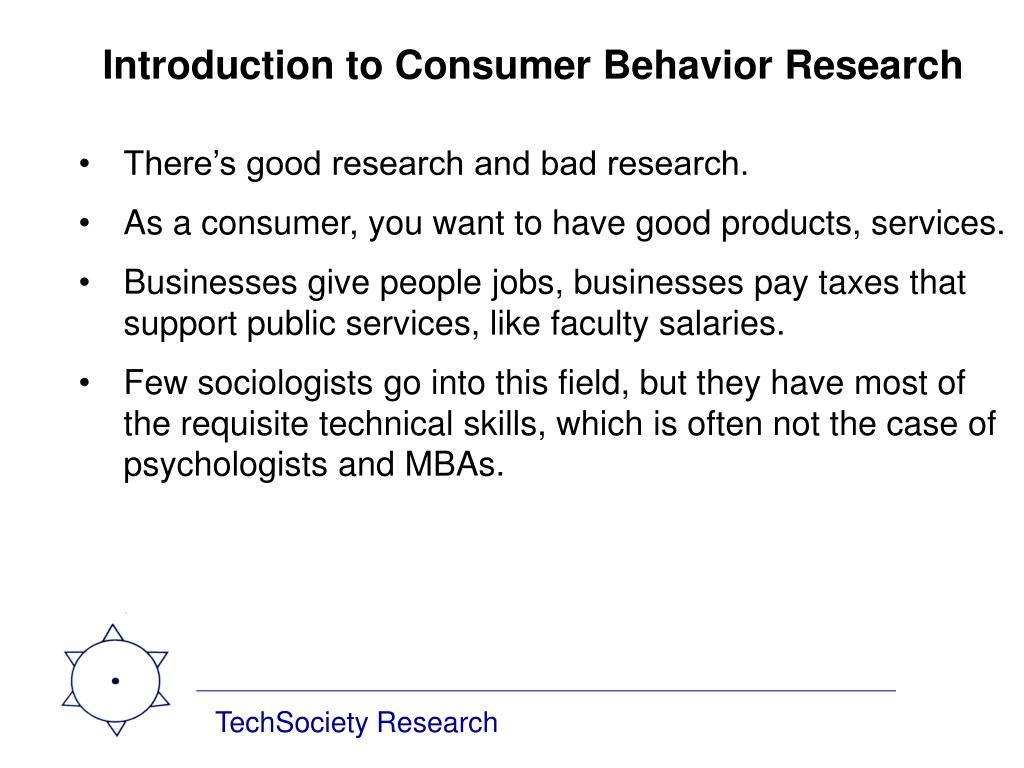 Introduction to Consumer Behavior Research