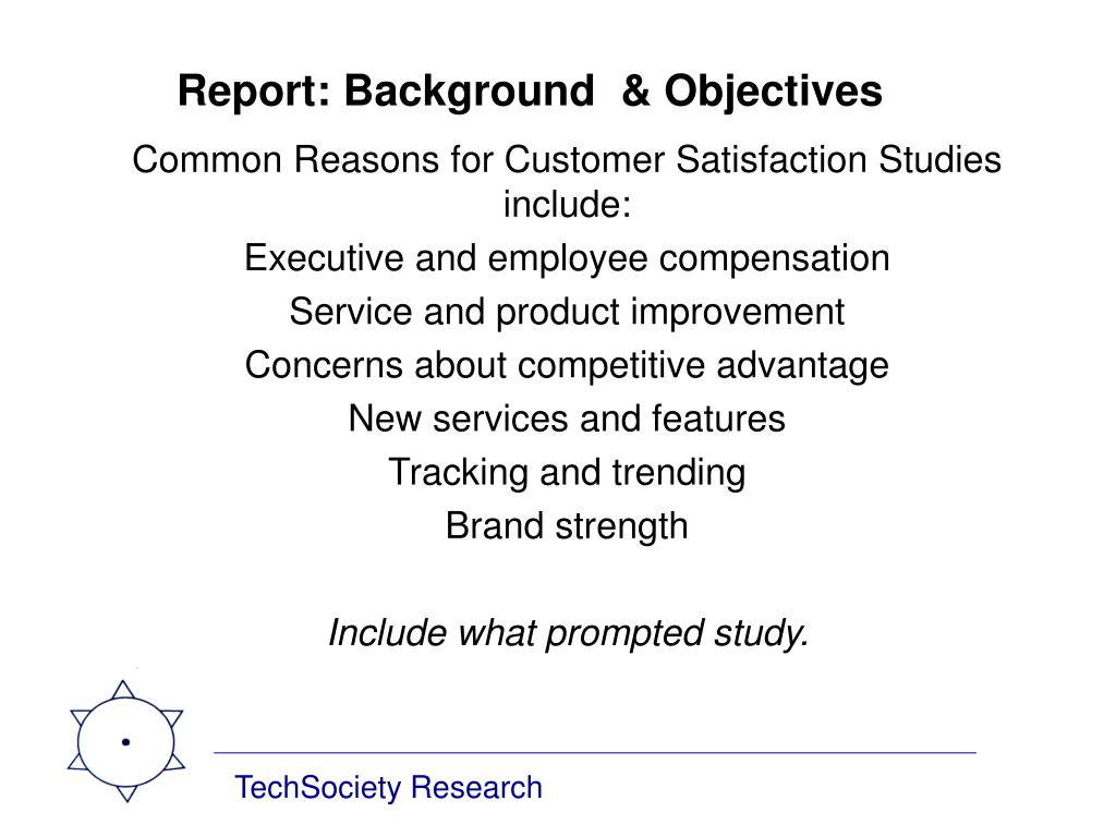 Report: Background  & Objectives