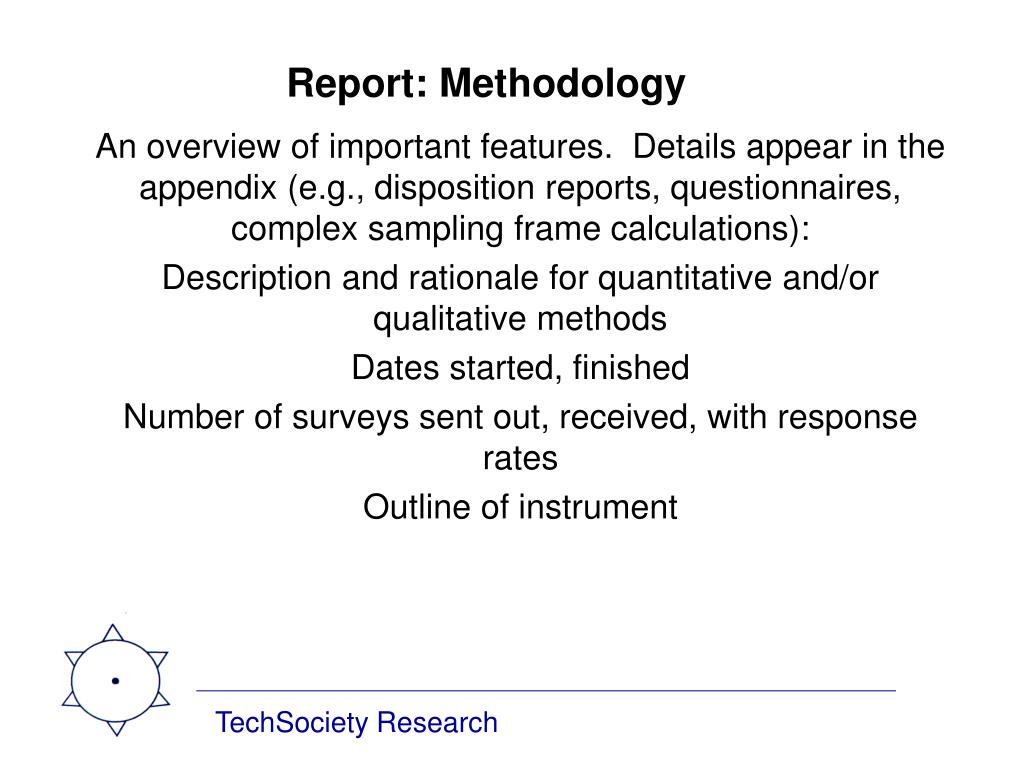 Report: Methodology