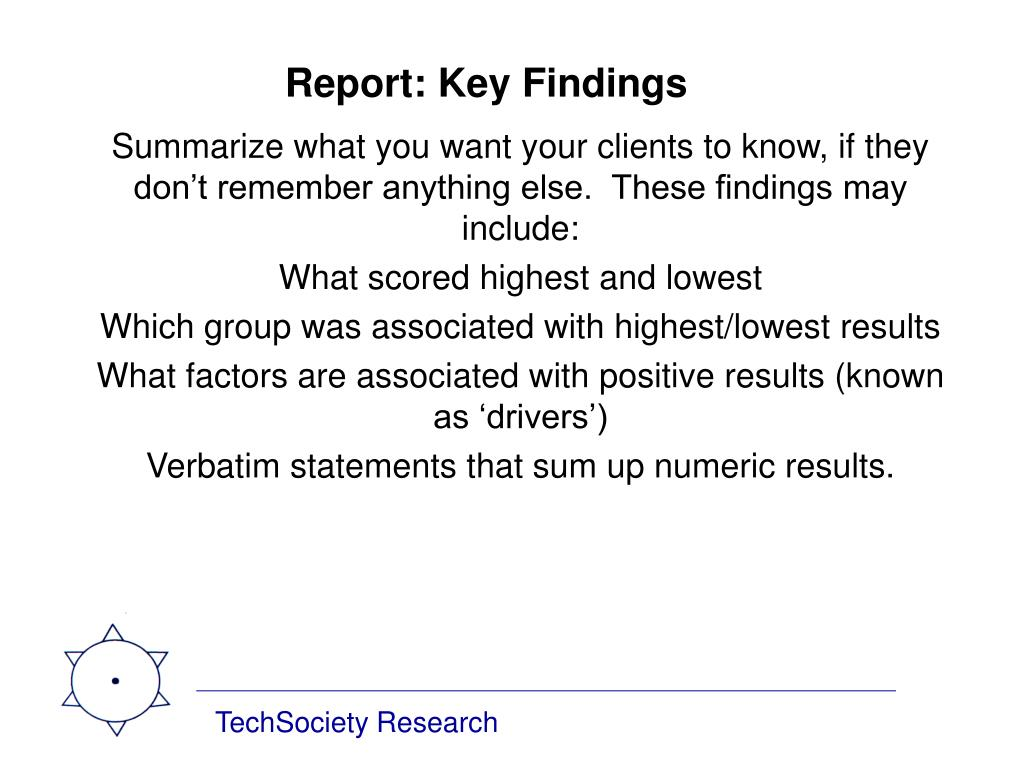 Report: Key Findings