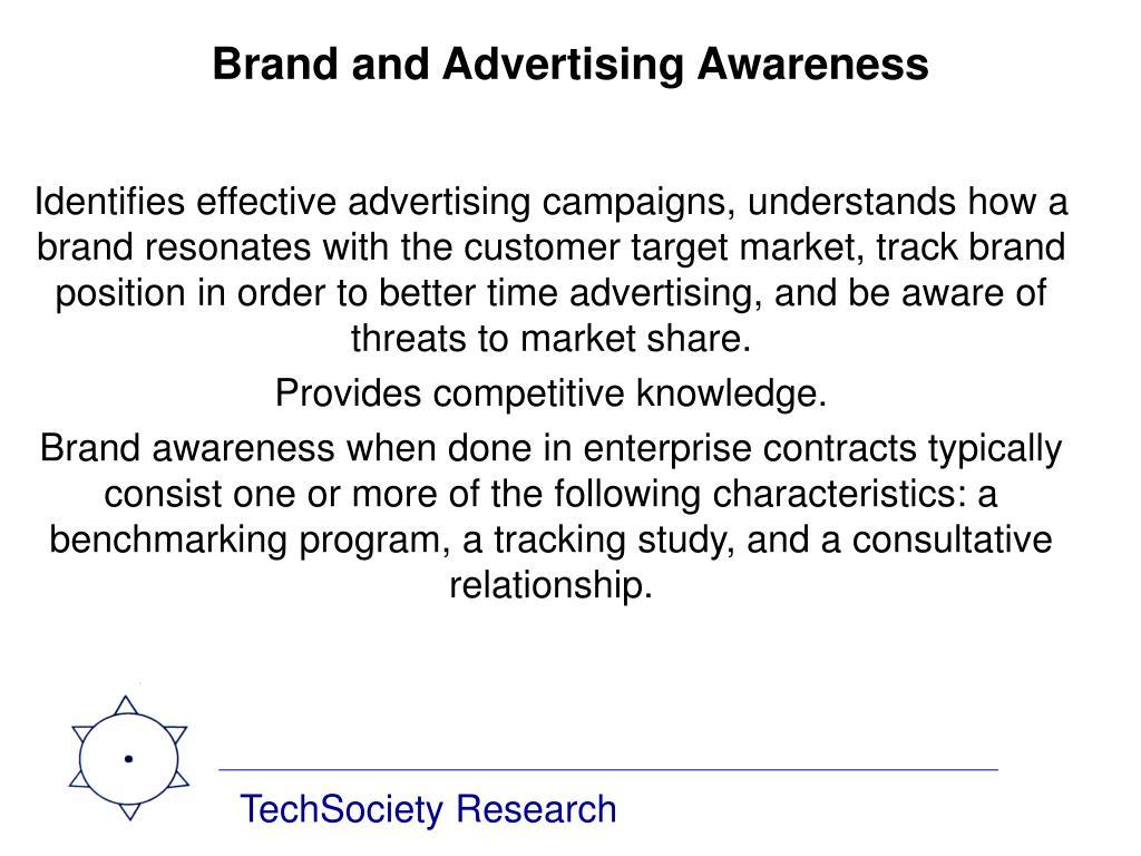 Brand and Advertising Awareness