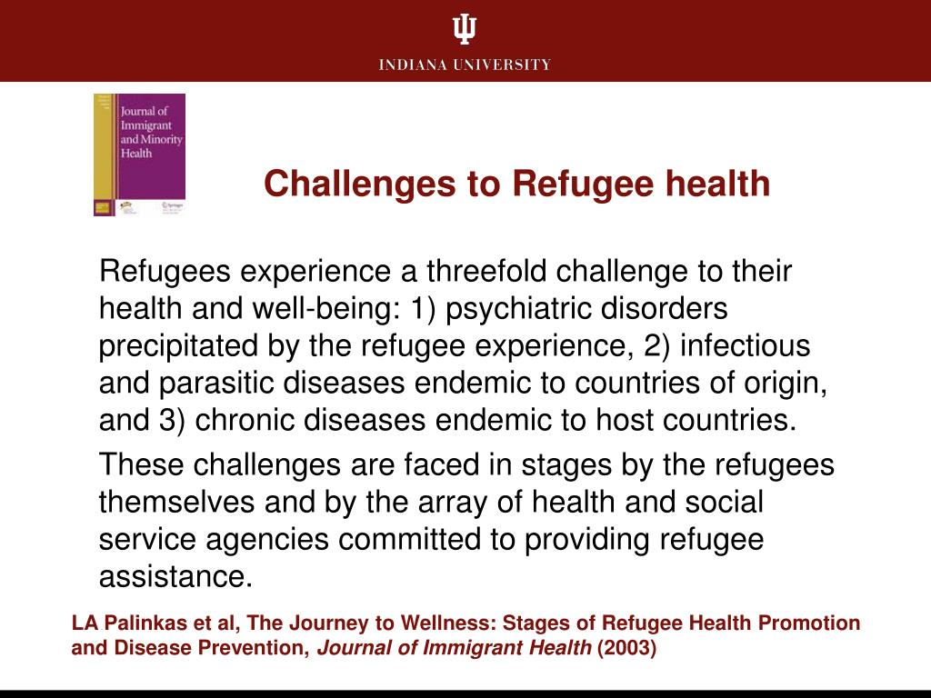 Challenges to Refugee health