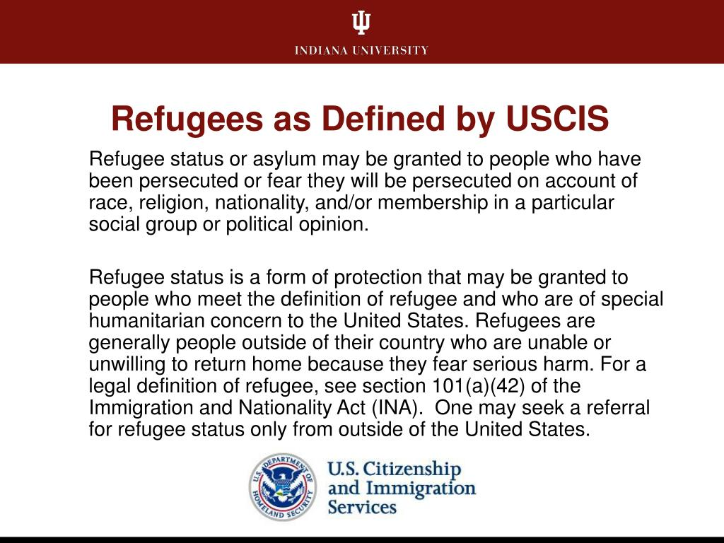 Refugees as Defined by USCIS
