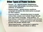 other types of power include