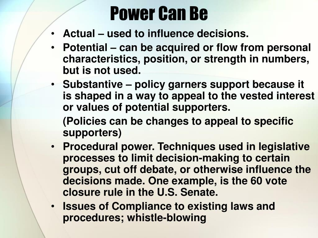 Power Can Be