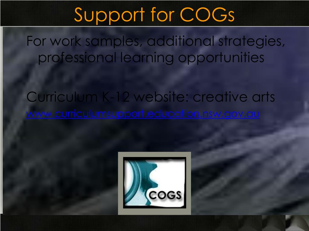 Support for COGs