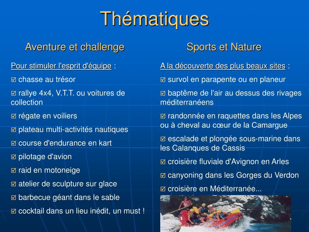 Aventure et challenge