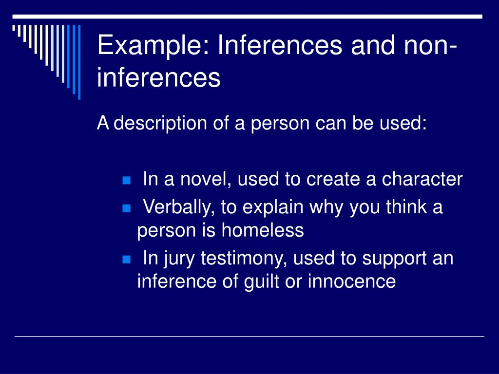 Example: Inferences and non-inferences
