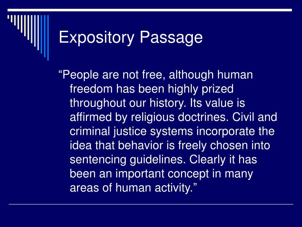 Expository Passage
