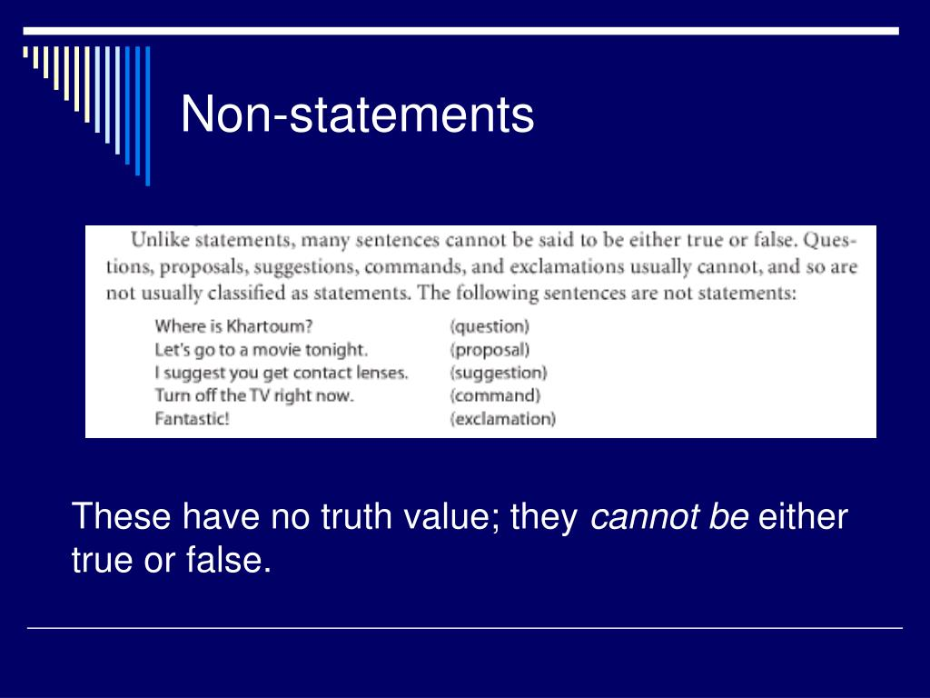 Non-statements
