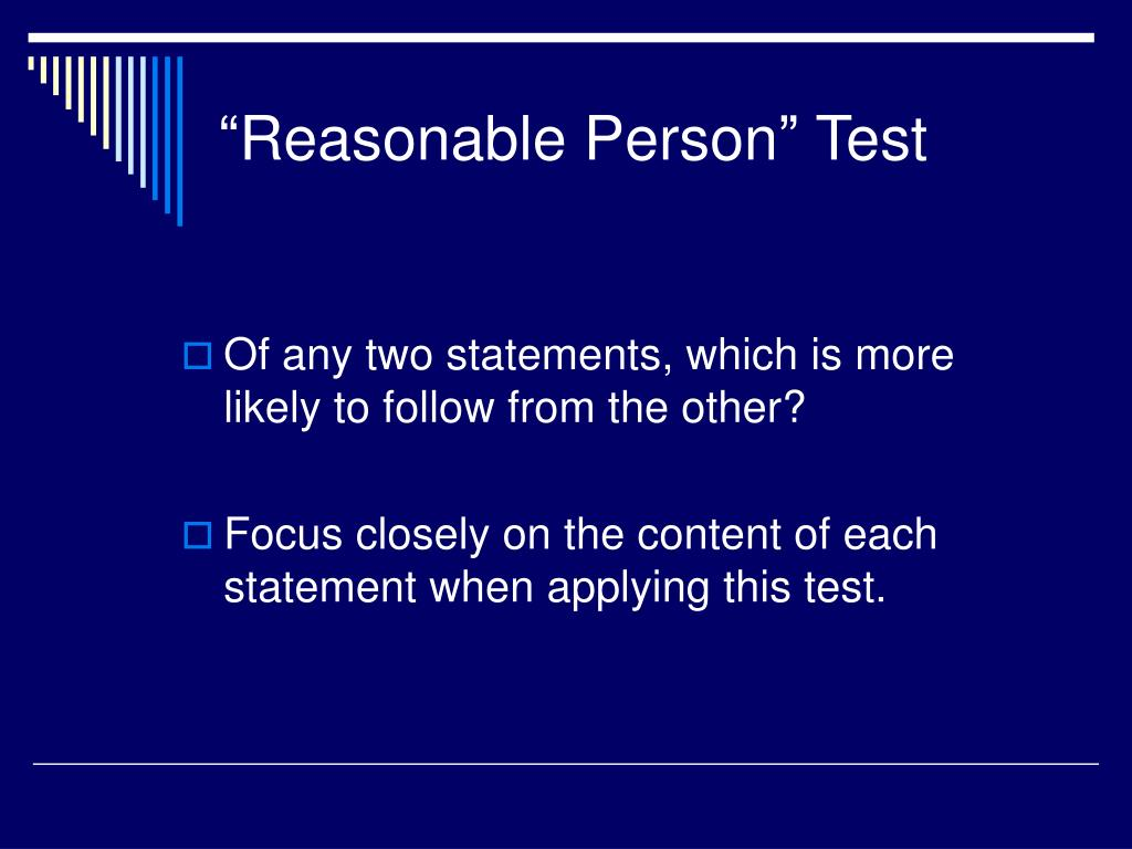 """""""Reasonable Person"""" Test"""