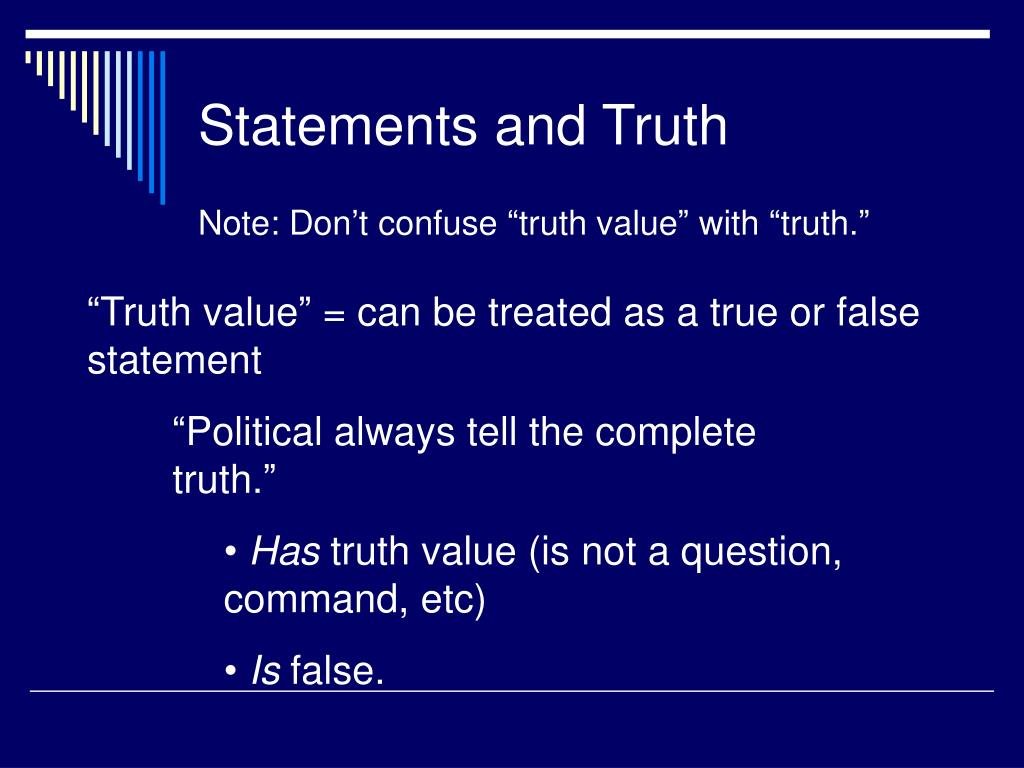 Statements and Truth