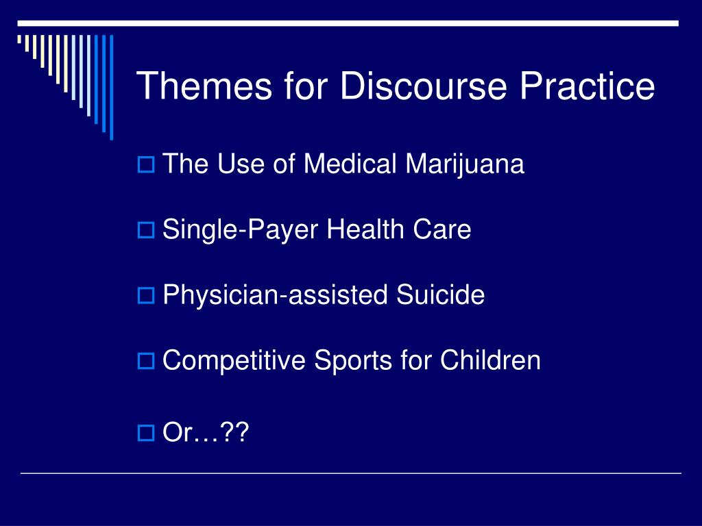 Themes for Discourse Practice