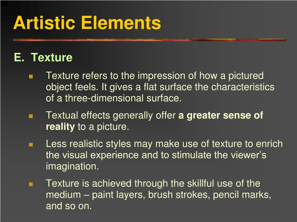 Artistic Elements