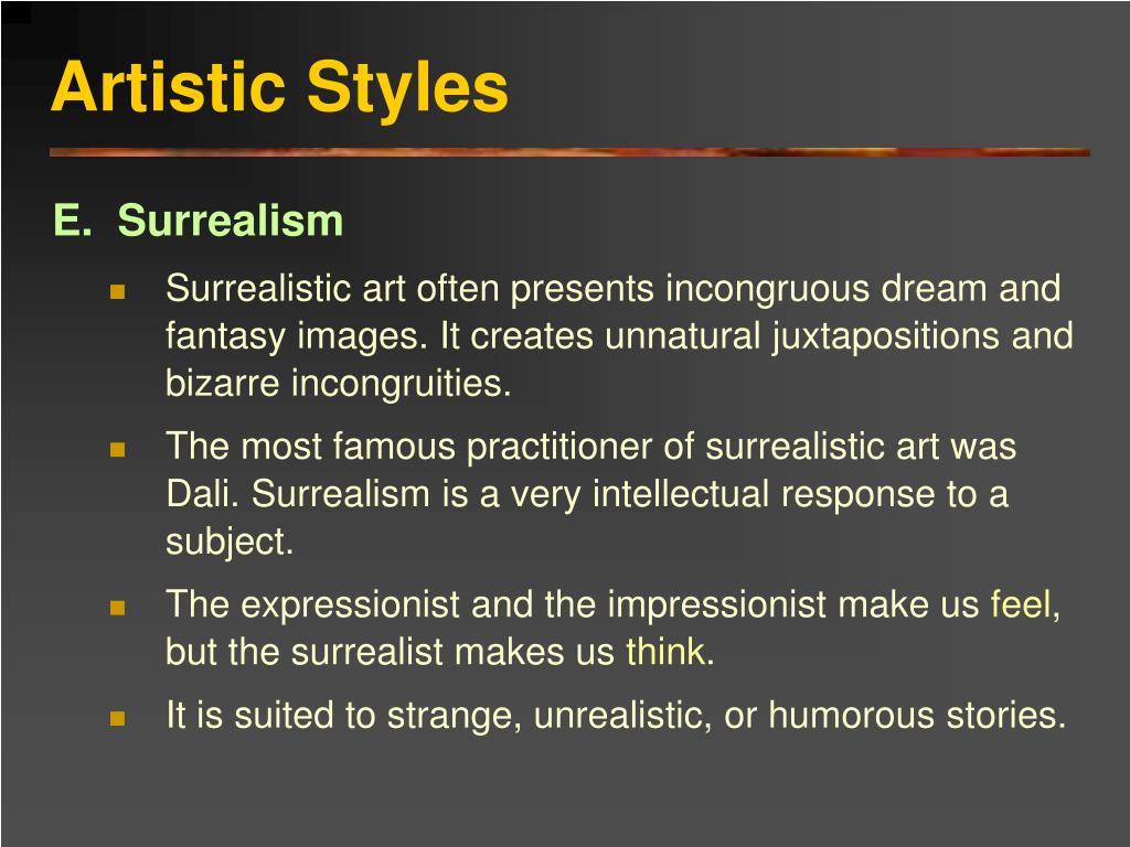 Artistic Styles