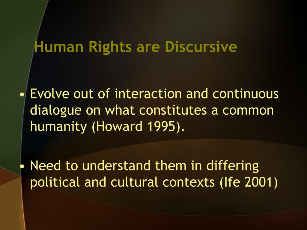 Human Rights are Discursive