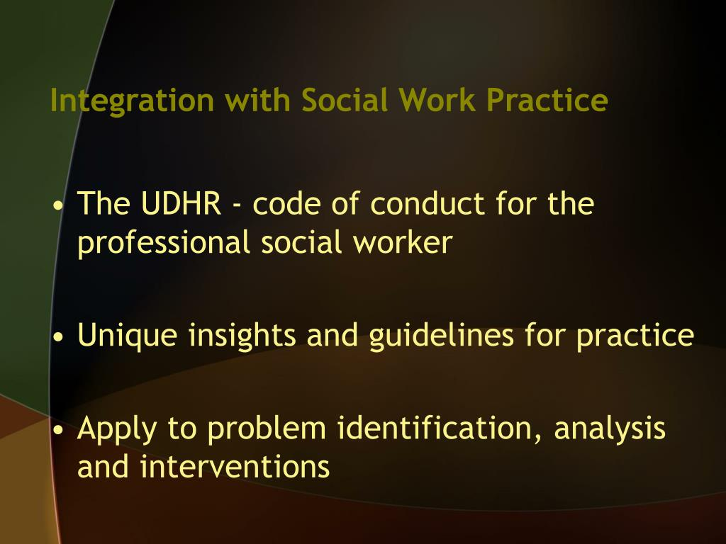 Integration with Social Work Practice