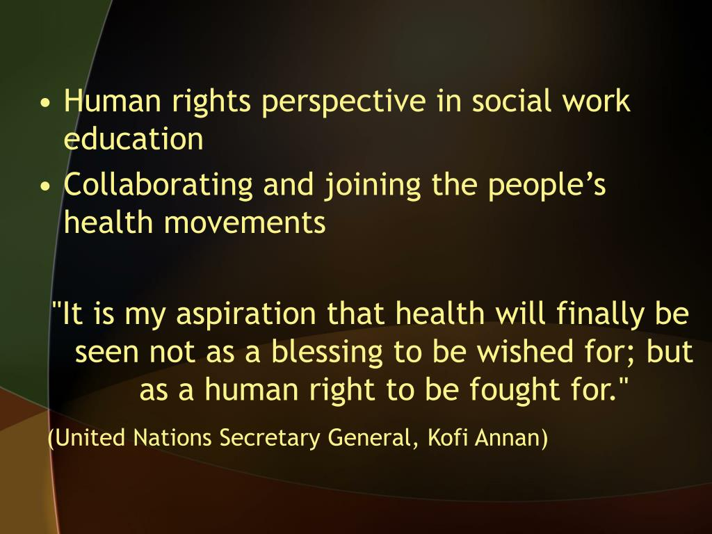 Human rights perspective in social work education