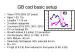 gb cod basic setup