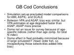 gb cod conclusions