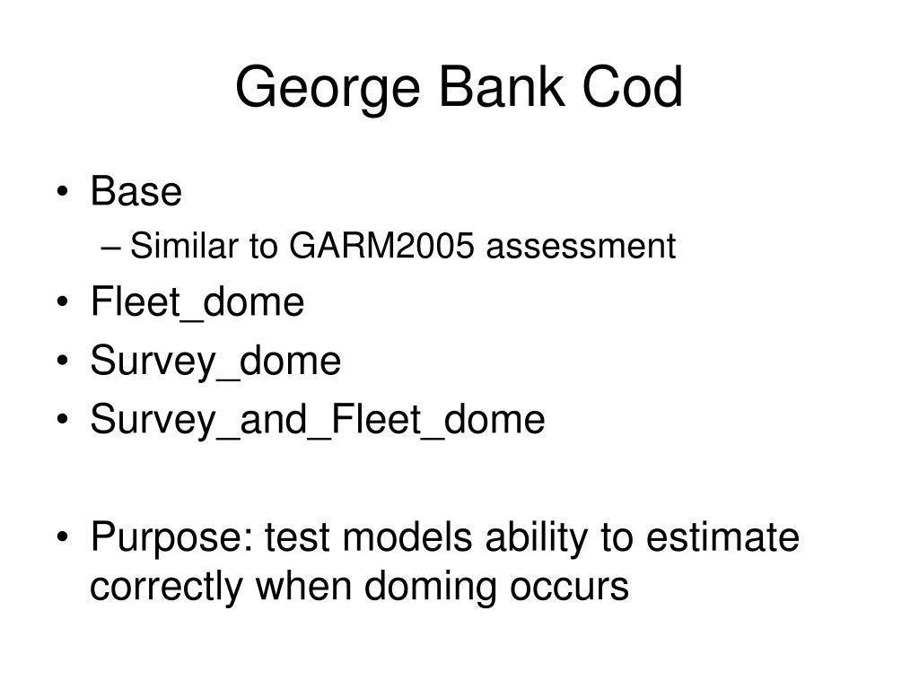 george bank cod