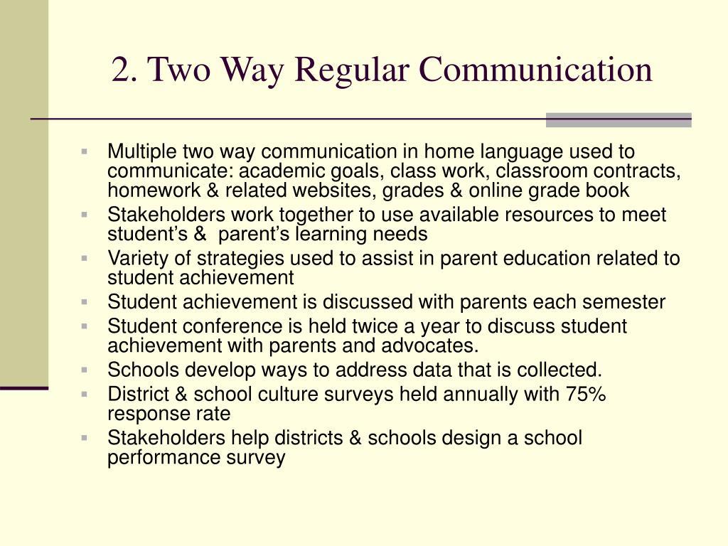 2. Two Way Regular Communication