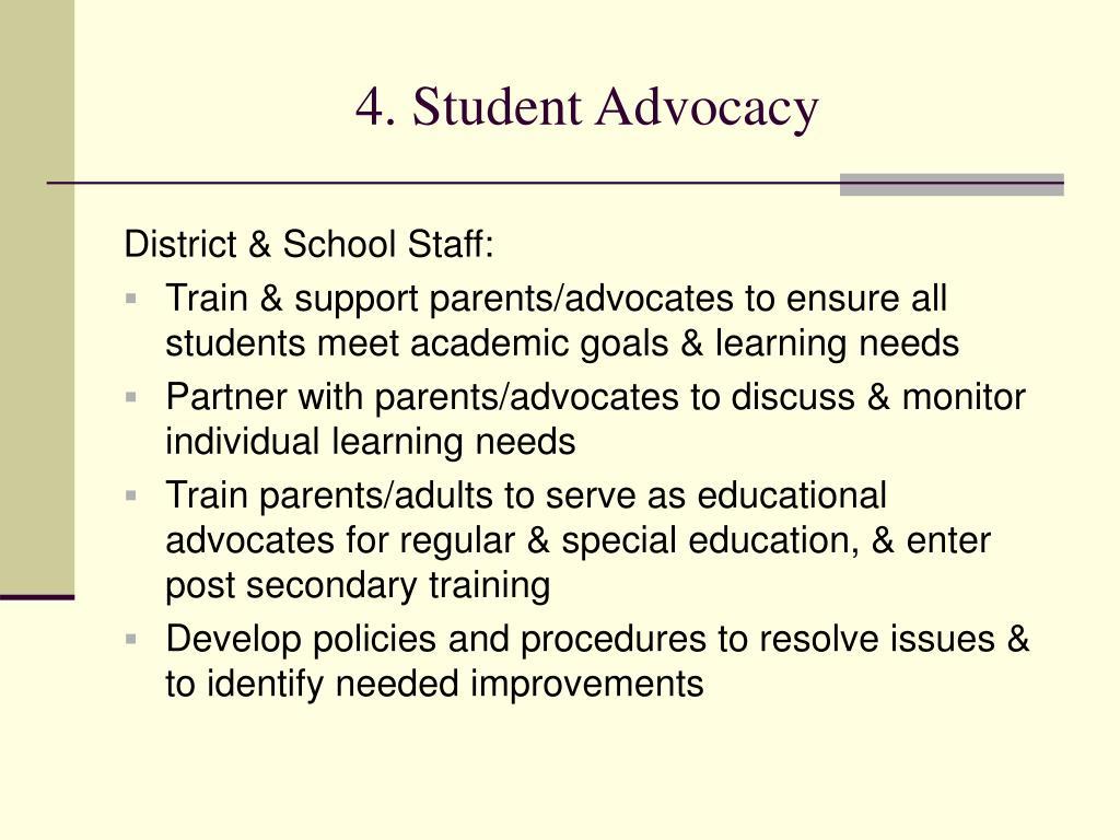 4. Student Advocacy