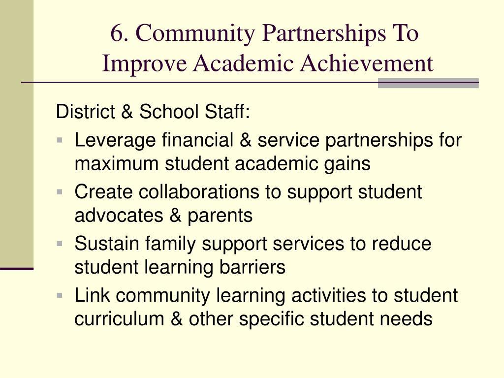 6. Community Partnerships To