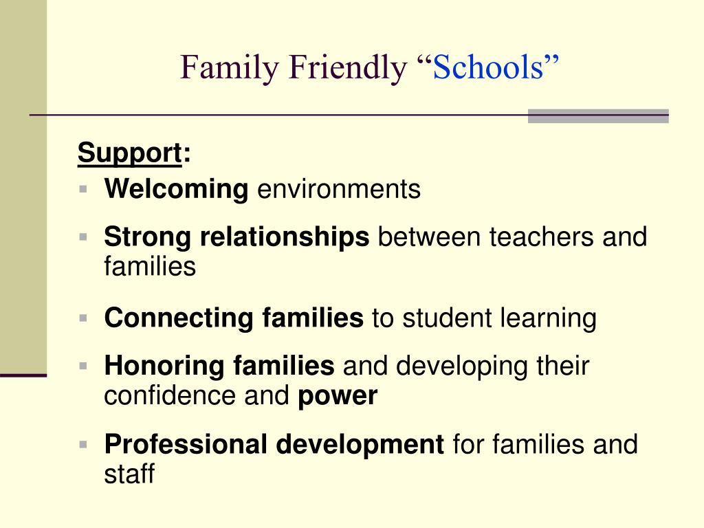 "Family Friendly """
