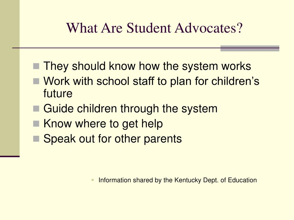 What Are Student Advocates?
