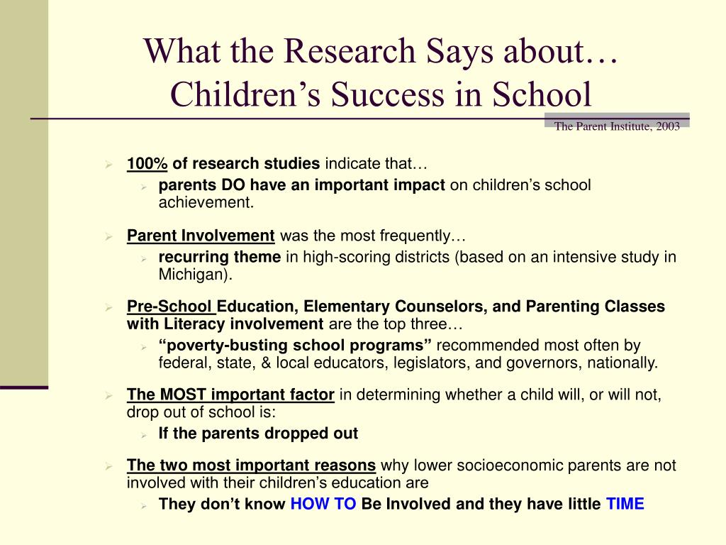 What the Research Says about…