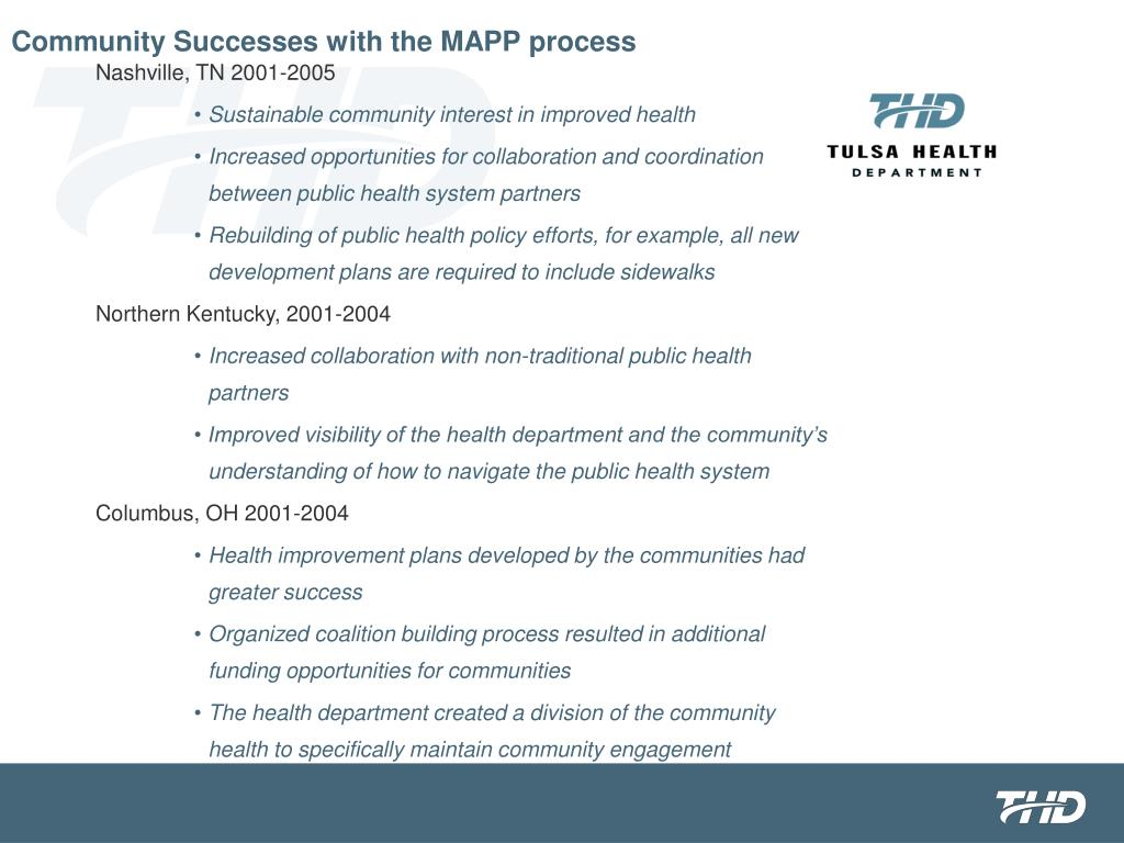 Community Successes with the MAPP process