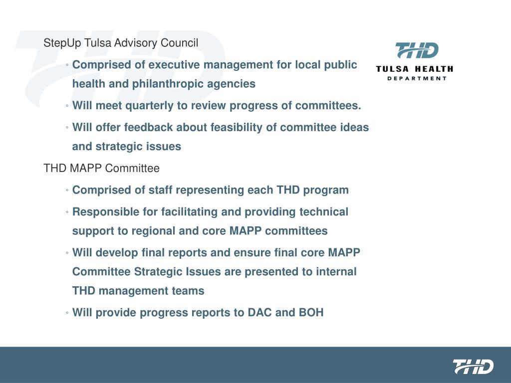 StepUp Tulsa Advisory Council