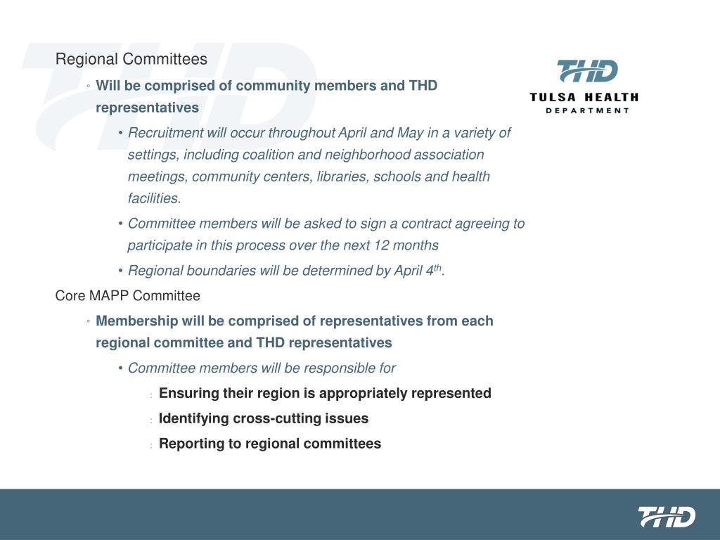 Regional Committees