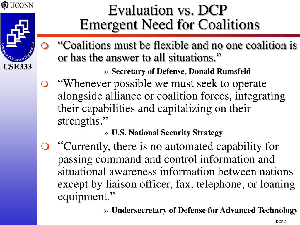 Evaluation vs. DCP