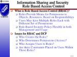 information sharing and security role based access control