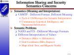 information sharing and security semantics concerns