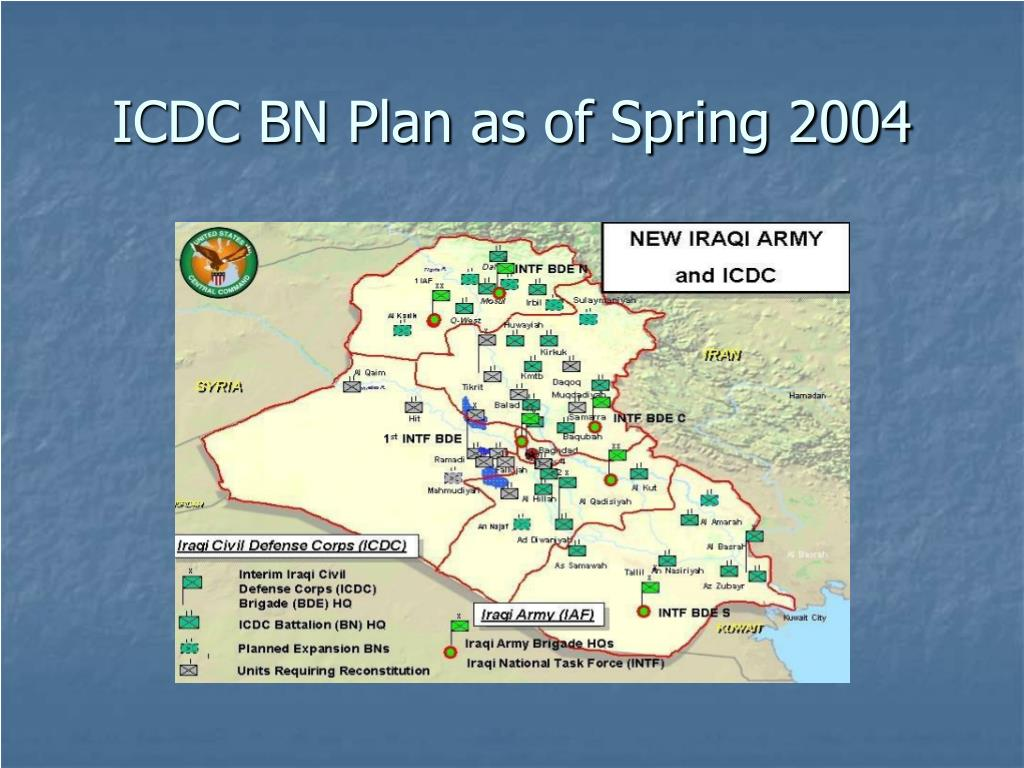 ICDC BN Plan as of Spring 2004