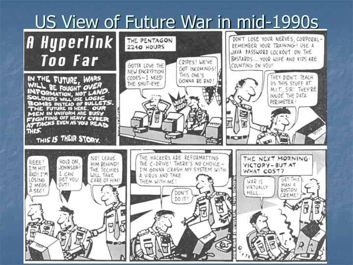 Us view of future war in mid 1990s