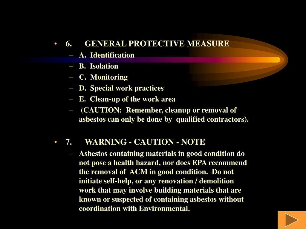6.GENERAL PROTECTIVE MEASURE
