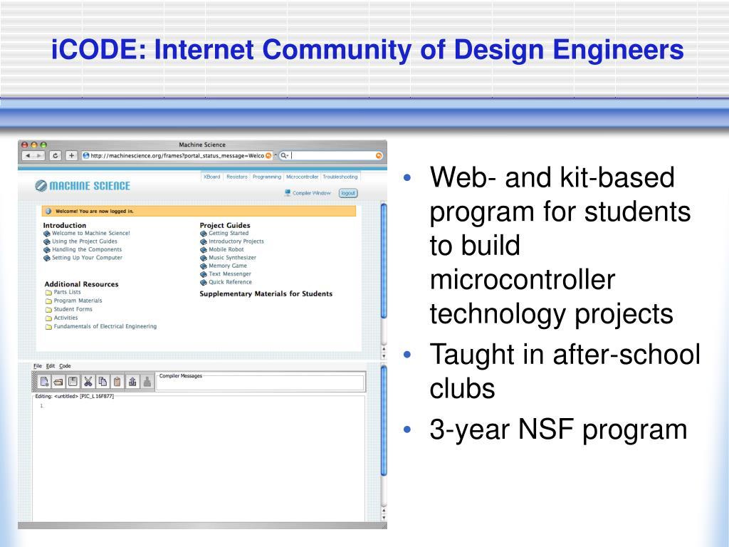 iCODE: Internet Community of Design Engineers