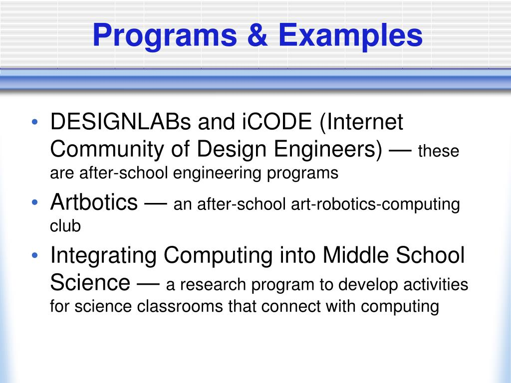 Programs & Examples