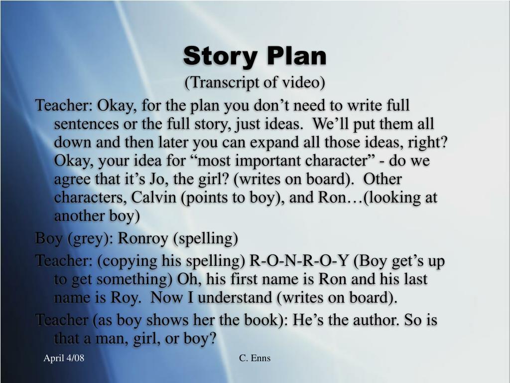 Story Plan