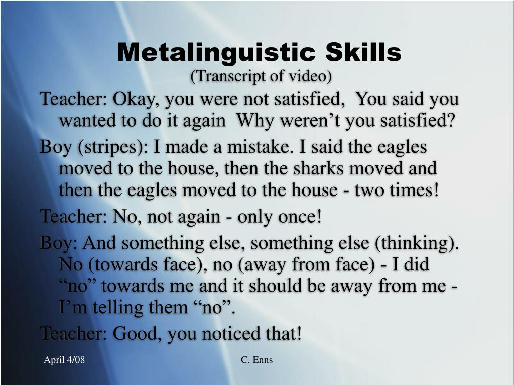 (Transcript of video)