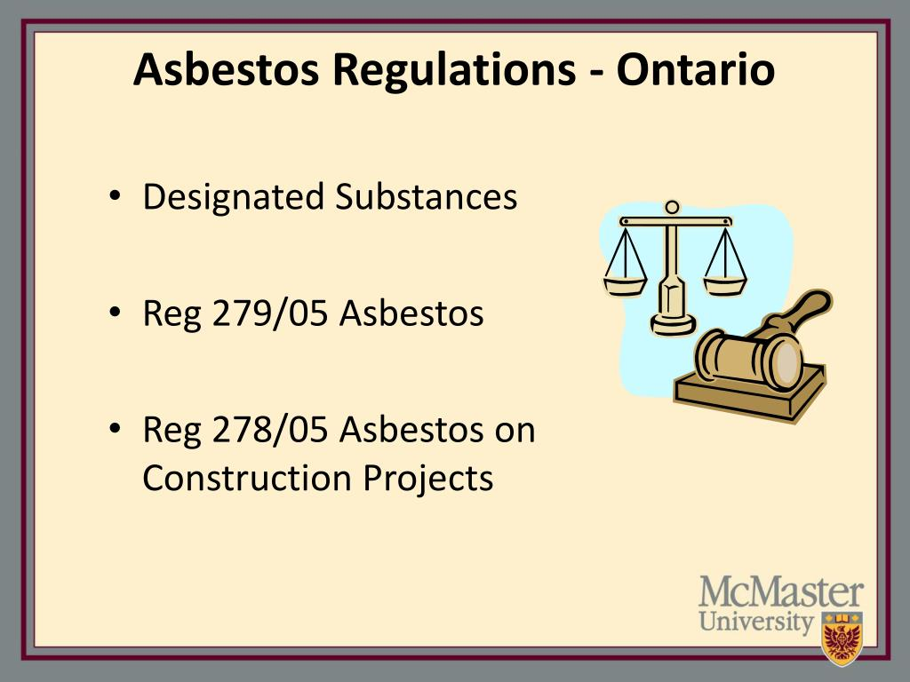 Asbestos Regulations - Ontario